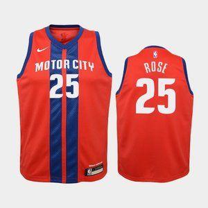 Women Detroit Pistons Derrick Rose Jersey